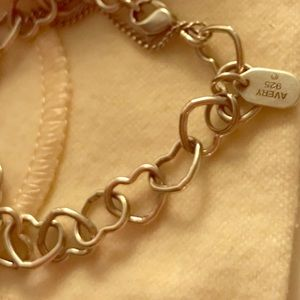 James Avery Connected Hearts Charm Bracelet